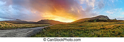 Sunset at the Quiraing on the Isle of Skye - Scotland