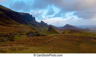 Sunset at the Quiraing on the Isle of Skye - Scotland, UK