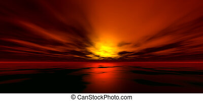 Sunset background, digitaly created
