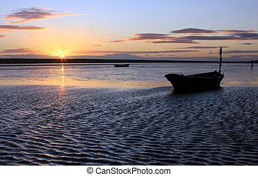sunset beach dorset