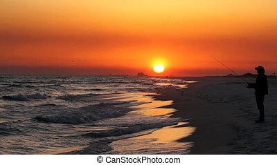 Sunset Beach Fisherman
