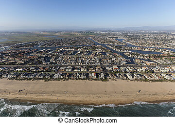 Sunset Beach Southern California Aerial