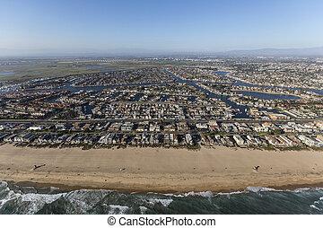 Sunset Beach Southern California Aerial