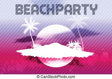 Sunset Beach Summer Party Flyer