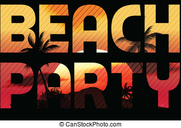 Sunset Beach Summer Party Type