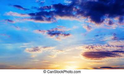 Sunset - Beautiful sunset with clouds time lapse