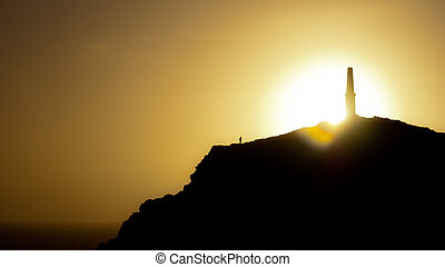 Sunset behind the Heinz Monument. - Beautiful golden sunset ...