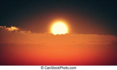 sunset big sun timelapse