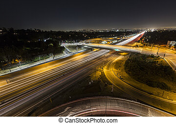 Sunset Blvd at the San Diego Freeway Night