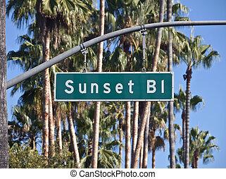 Sunset Blvd in Los Angeles