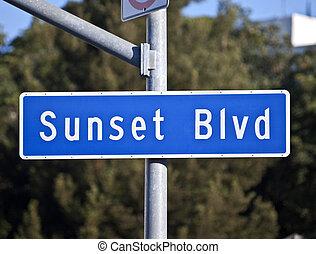 Sunset Blvd Sign