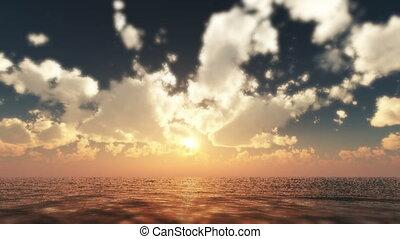 sunset calm sea