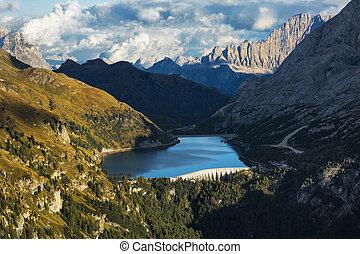 Cinque Torri Dolomites, sunset in the Autumn