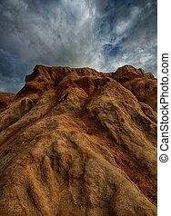 sunset cliffs sandstone erosion