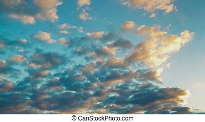 sunset cloud timelapse