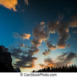 Sunset Clouds in the Sky