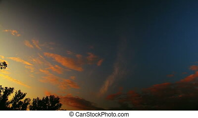 sunset clouds time lapse t3252B