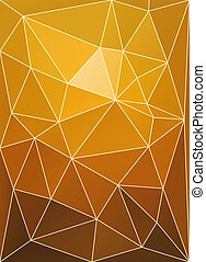 Sunset color triangular patchwork abstract vector background.