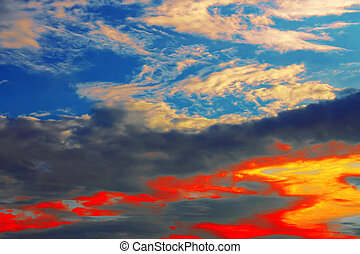 Sunset colorful sky