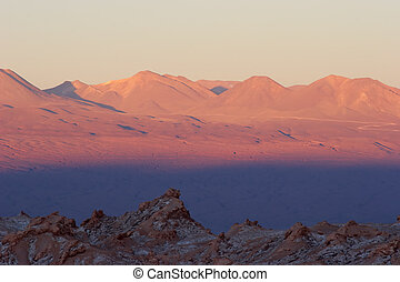 Sunset colors in Atacama Desert, Chile