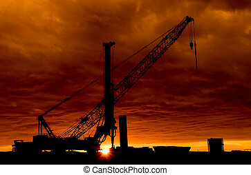 Sunset Construction Site
