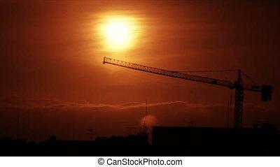 Sunset Crane 1