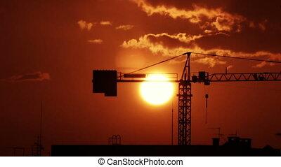 Sunset Crane 2