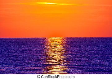sunset., crete, greece.