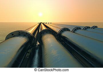sunset., csővezeték