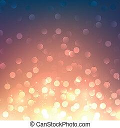Blurred bokeh vibrant background. Vector.