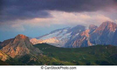 Sunset Dolomites.