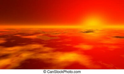 Sunset earth atmosphere