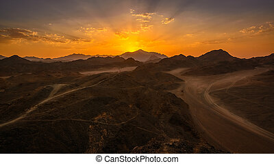 Sunset Egypt desert