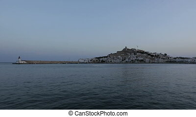 Sunset Eivissa Castle - Sunset Timelapse at the harbour of...