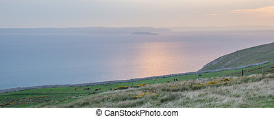 Sunset from Great Orme's Head coastline