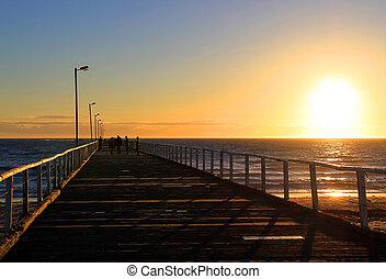 Sunset from Semaphore Jetty, Adelaide, Australia