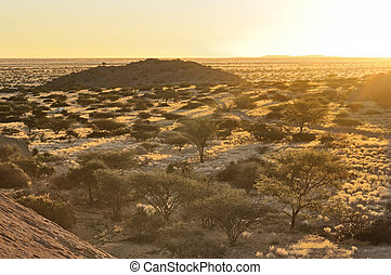 Sunset from Spitzkoppe, Namibia