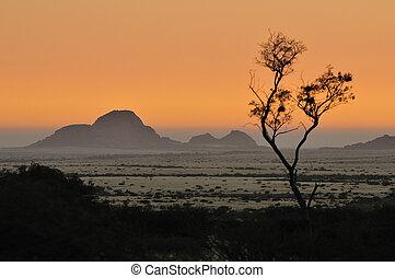 Sunset from Spitzkoppe, Namibia