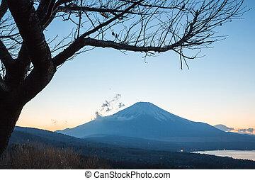Sunset fujisan - Sunset Fuji fujisan at dusk from yamanaka ...