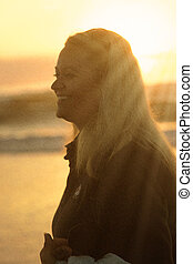 Sunset Girl at Beach