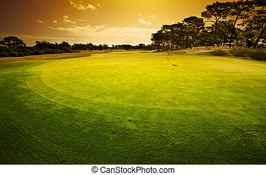 Sunset Green - Sunset over the 18th Green