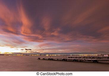 Sunset in Albufera, Valencia, long exposure #3