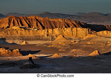 sunset in atacama