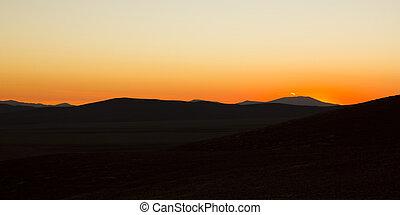 Sunset in Atacama desert.