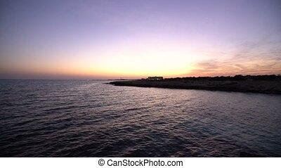 Sunset in Aya Napa, Cyprus - Sunset on the sea in Aya Napa, ...