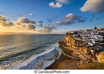 Azenhas do Mar, Portugal - Sunset in Azenhas do Mar, ...