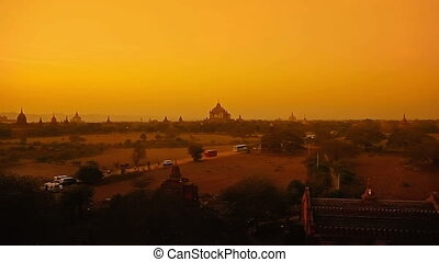 Sunset in Bagan - Colorful sunset in Bagan, Myanmar....