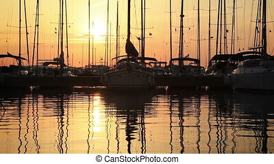 Sunset in bay with CANON Mkll