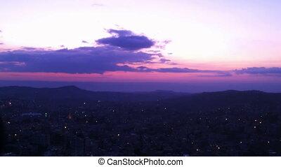 Sunset in Bethlehem, Palestine, time lapse - Sun is setting...