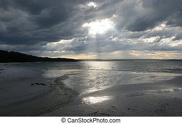 Sunset in Booderee National Park. Jervis Bay. Australia